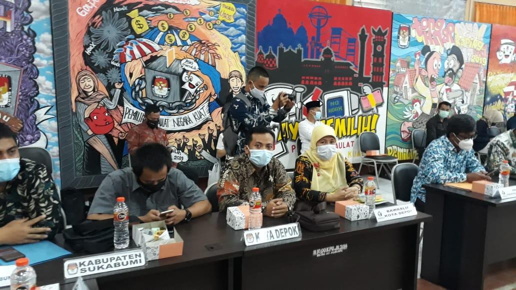 Bawaslu Kota Depok Mengikuti Penerimaan Kunjungan Kerja Komisi II DPR RI