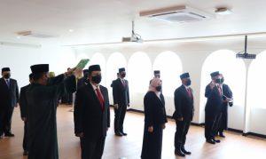 Gunawan Lantik 12 Pejabat Pimpinan Tinggi Pratama Sebagai Kado HUT ke-13 Bawasl